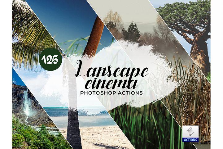 125 Landscape Cinema Photoshop Actions
