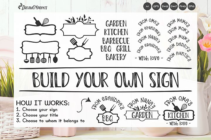 Sign Making Bundle - Kitchen Sign SVG Builder