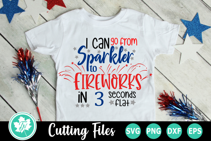 Sparkler to Fireworks - American SVG Cut Files
