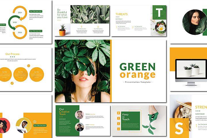 Green Orange - Powerpoint Template