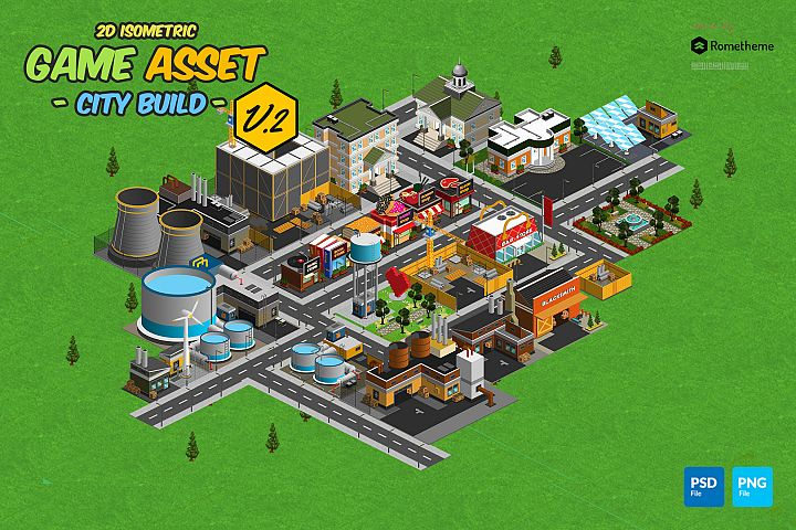 Isometric City Build Collection v.2