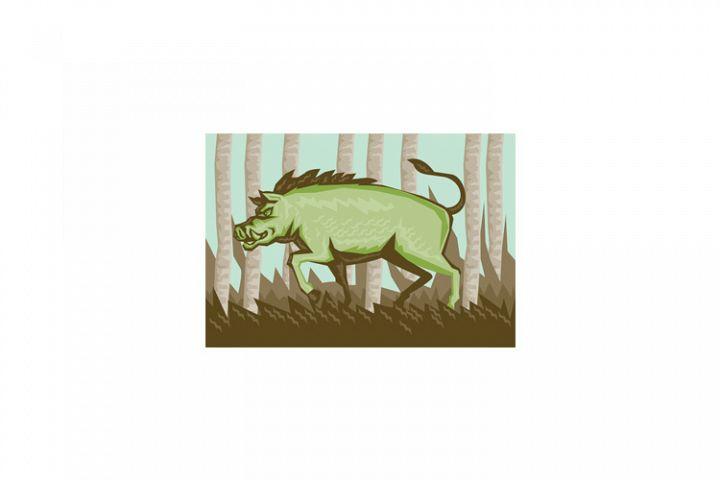 Razorback Wild Pig Boar Attacking