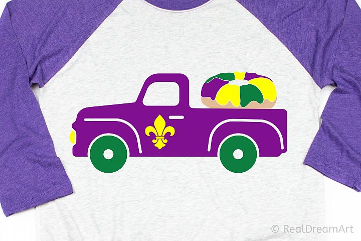 Mardi Gras Truck SVG, DXF, PNG, EPS