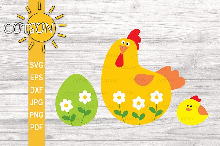 Chicken SVG | Easter design for Crafters | Easter cut file