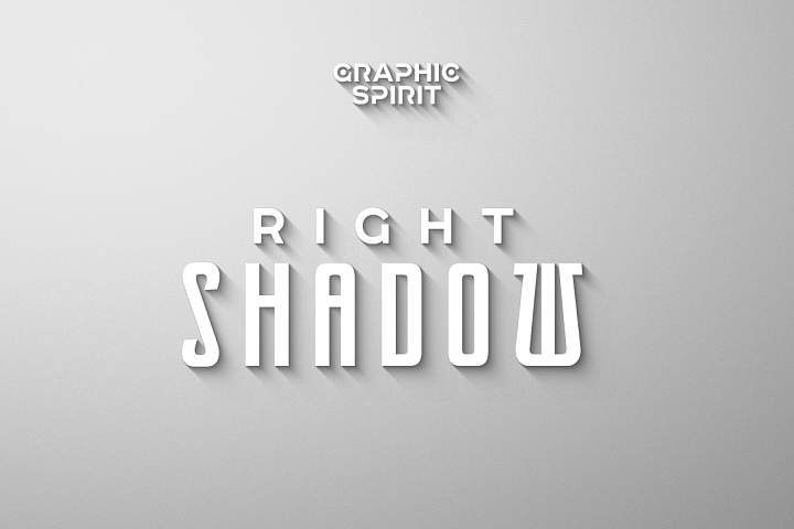 Laconic Long Shadow for Photoshop example 1