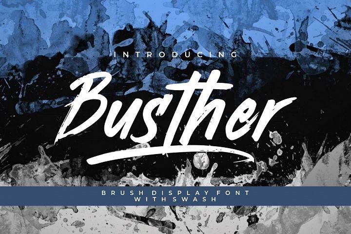 Busther - Handbrush Typeface