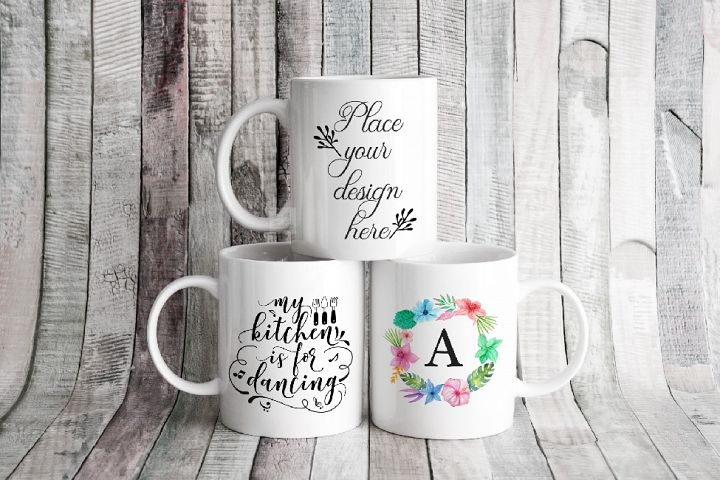 Three mockup mugs coffee mockups white 3 mug 11oz mock up
