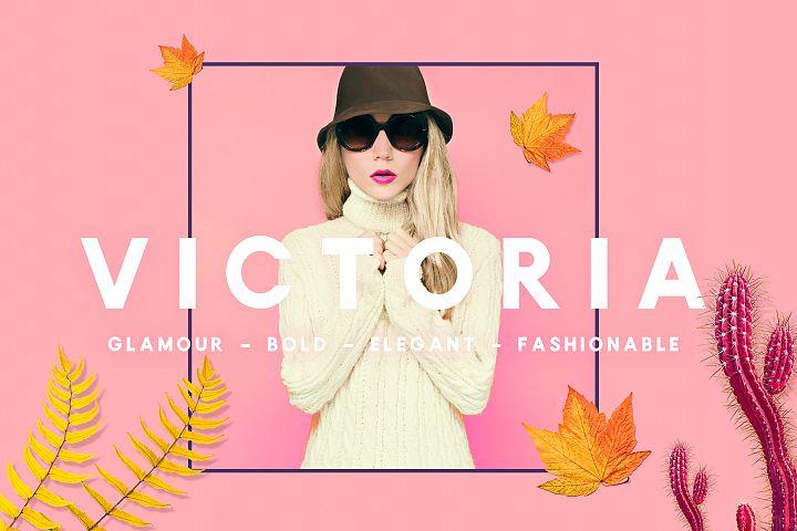 Victoria - Glamour, Elegant Headline Typeface
