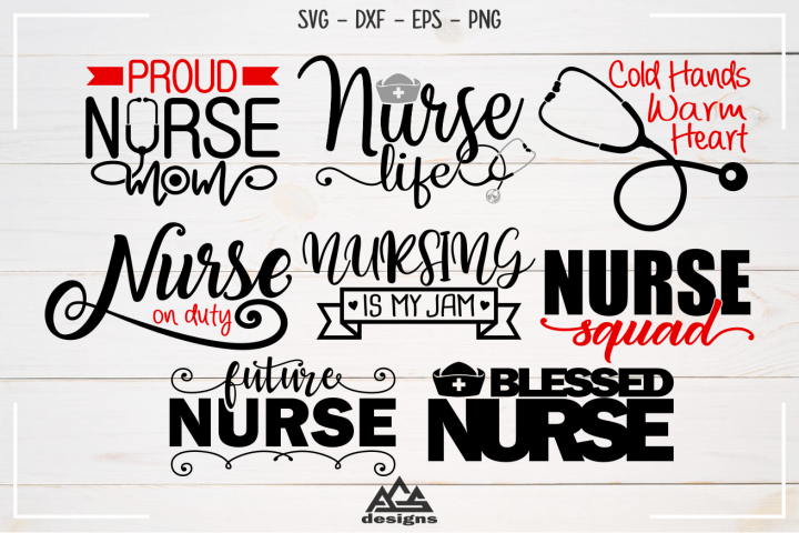 Nurse Nursing Quote Packs Svg Design
