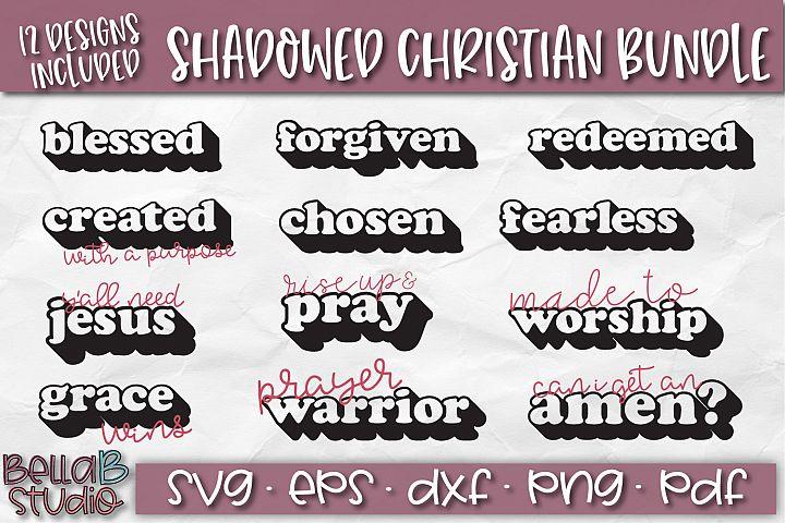 Christian Quotes SVG Bundle, Christian SVG Cut Files, Shadow