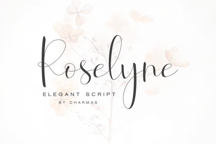 Roselyne Calligraphy Script Font