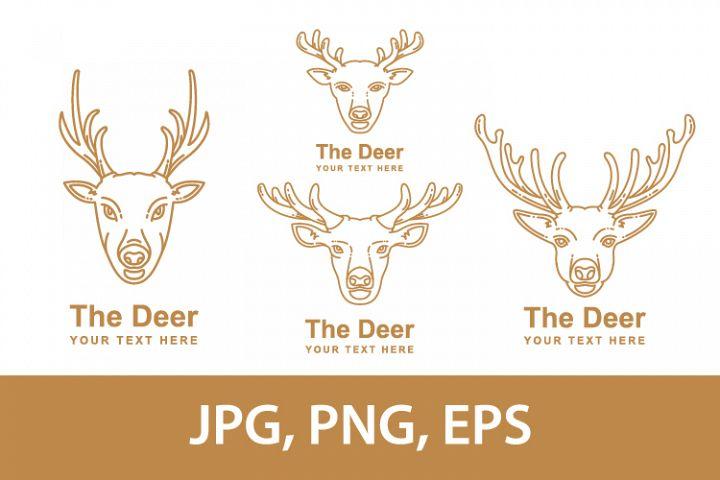 deer mascot design style monoline