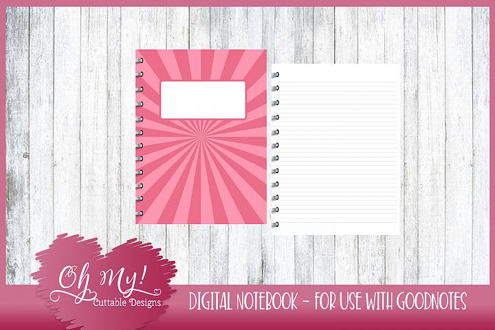 Sweet N Sassy Flare Digital Notebook for iPad Goodnotes