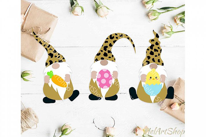 Easter Gnome svg, Gnomes svg, Leopard Print gnomes