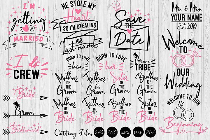 Wedding bundle | SVG cut files | Wedding SVG |