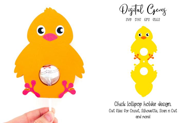Chick lollipop holder design SVG / DXF / EPS files
