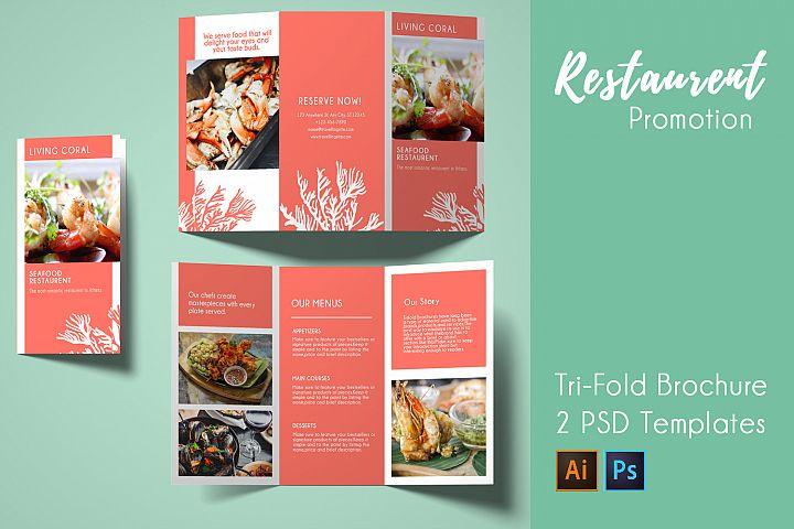 Seafood Restaurent-Tri-fold Brochure-PSD & AI Templates