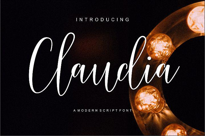 Claudia Modern Script