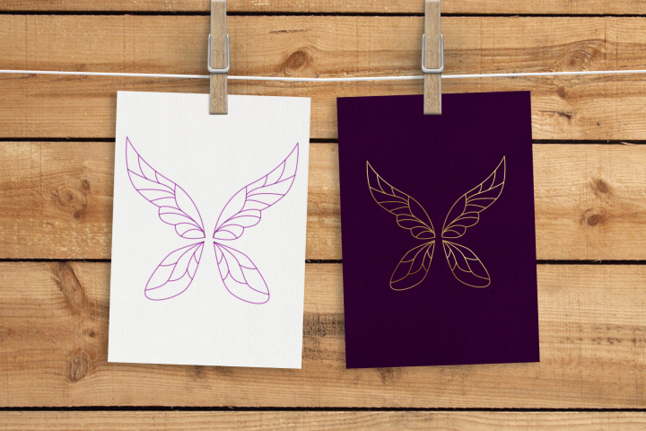 Fair Wings SKETCH Single Line Pen & Foil Quill SVG