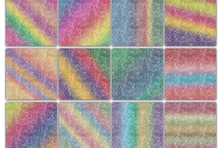 Rainbow Glitter Digital Paper Textures - Free Design of The Week Design 1
