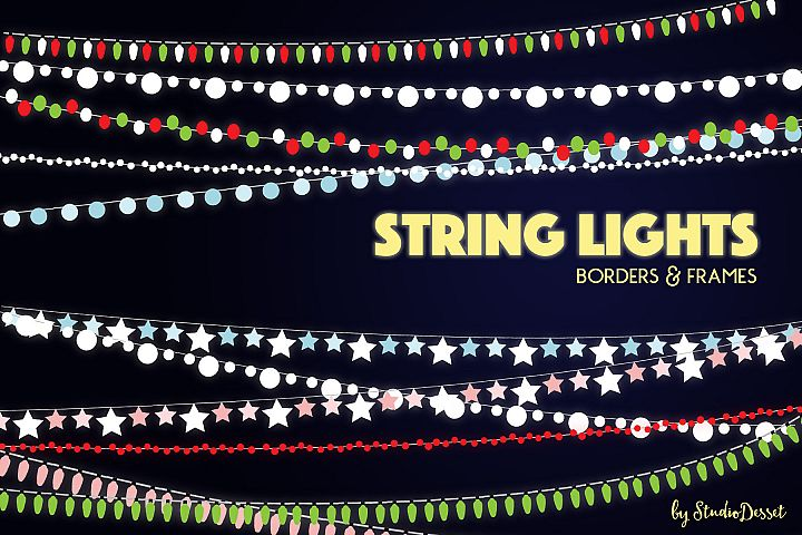 String Lights - Borders and Frames Illustrations