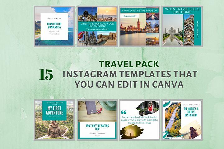 Instagram Post Template- Travel Blogger