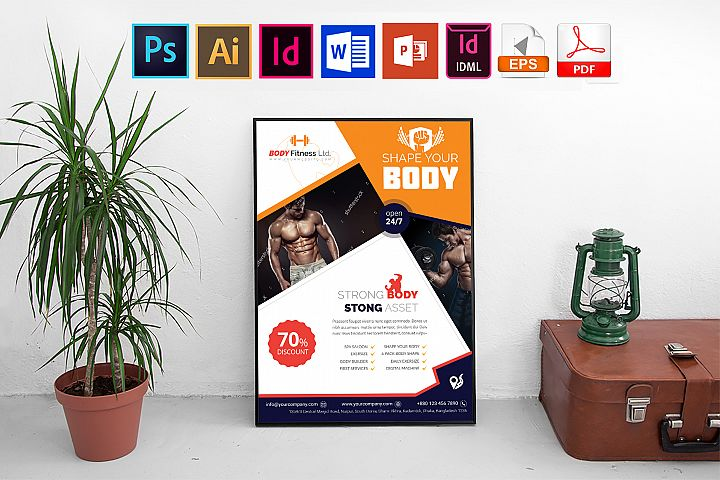 Poster   Gym & Fitness Vol-01