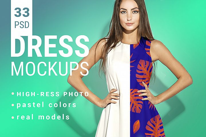 Womans Dress Mockup Set