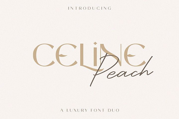 Celine Peach - A Luxury Font Duo