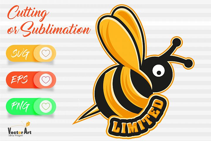 Bee with word Limited - Cutting or Sublimation