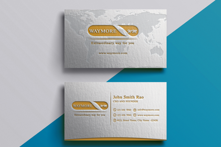 Minimalistic Letterpress Golden Business card