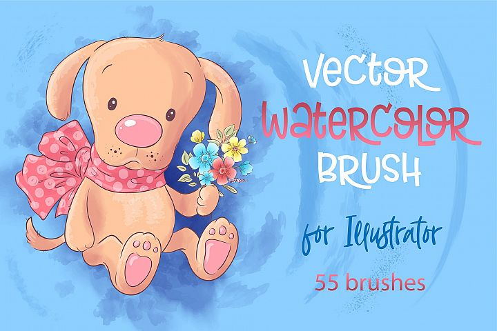 Vector watercolor brushes for Adobe Illustrator