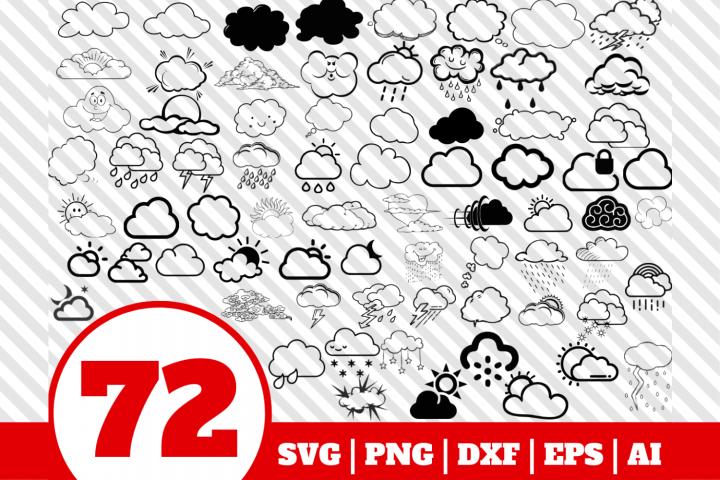 72 Cloud bundle svg - Cloud svg - Cloud vector