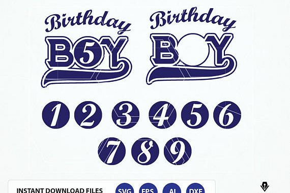 Birthday Boy Design Template. Baseball Birthday Boy Svg, dxf, eps, Cameo Studio3 Cut Files Files. DIY Vinyl, Iron on Birthday T shirt
