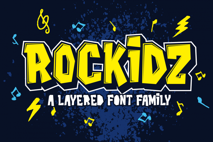 Rockidz // Layered Font Family