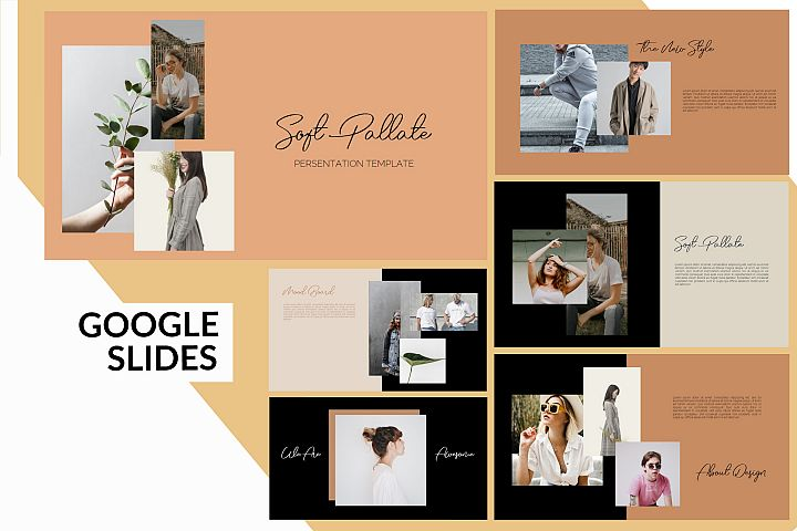 Soft Pallate Dark - Fashion Google Slides