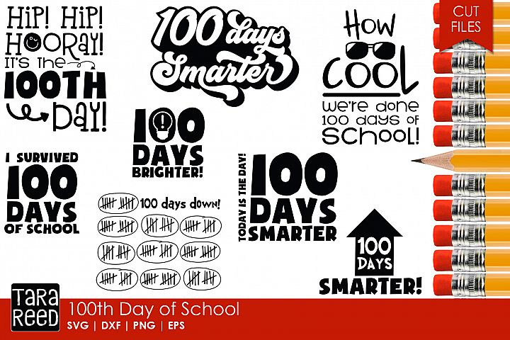 100th Day of School - School SVG and Cut Files for Crafters