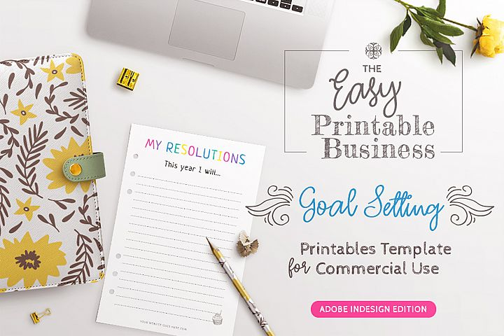 Goal Setting Printables InDesign Template