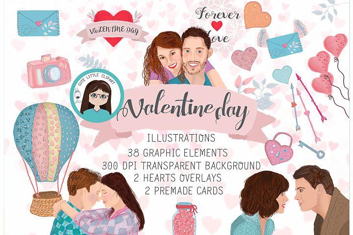 Valentine clipart set