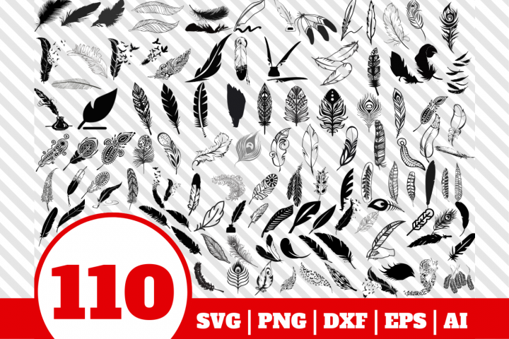 110 Feather bundle svg - Feather svg - Feather vector
