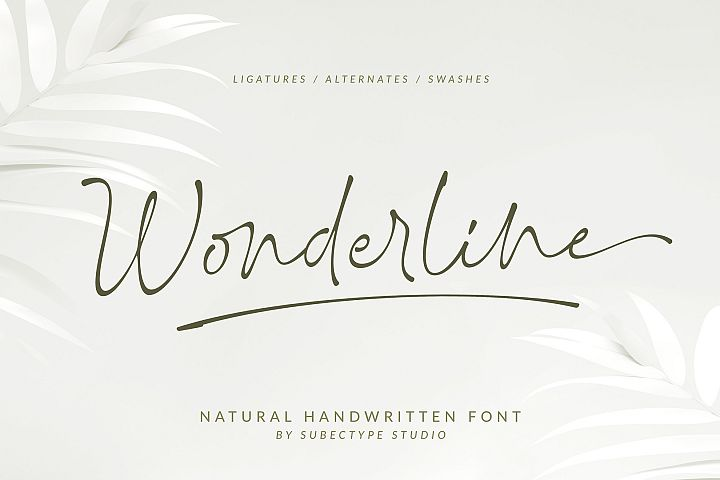 Wonderline / Handwritten Font