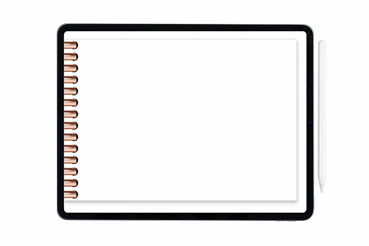 Digital planner insert for Good Notes with rose gold rings