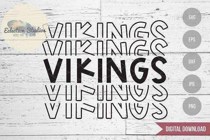 Vikings SVG, Sports Team Mascot Name, School Pride SVG