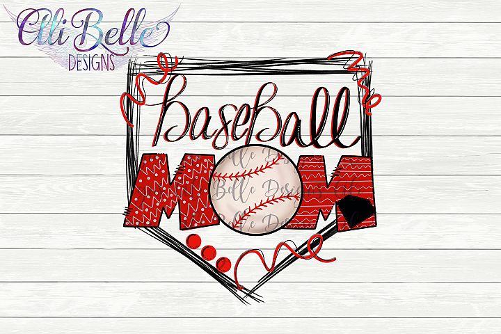 Sublimation Baseball Mom Home Plate