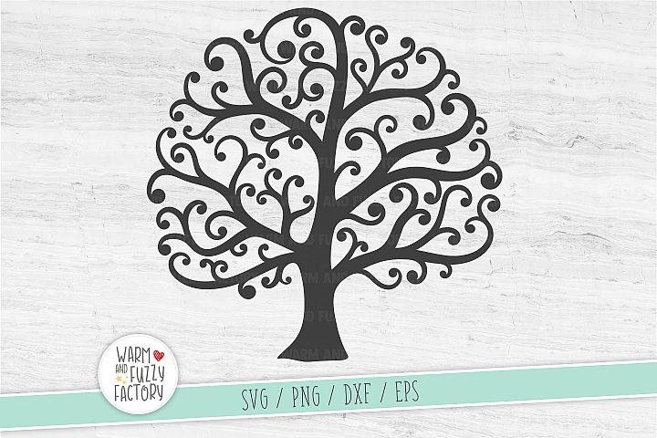 Tree svg, Family tree svg, Whimsical tree svg, Wedding tree