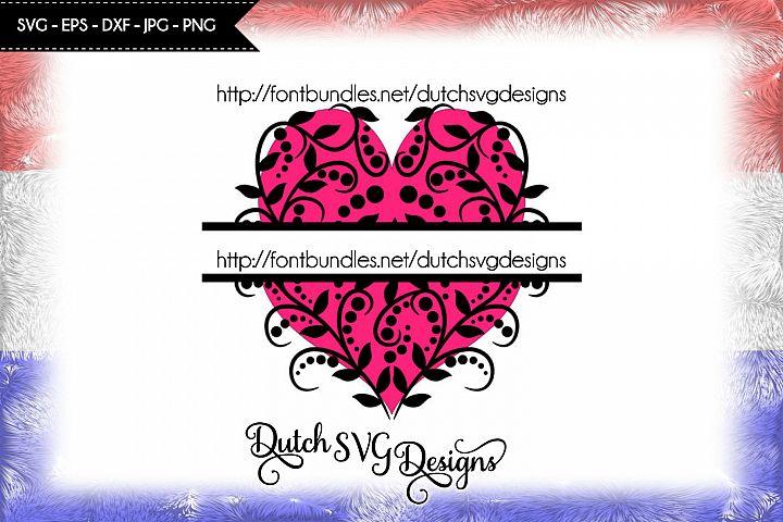 Decorative heart split border