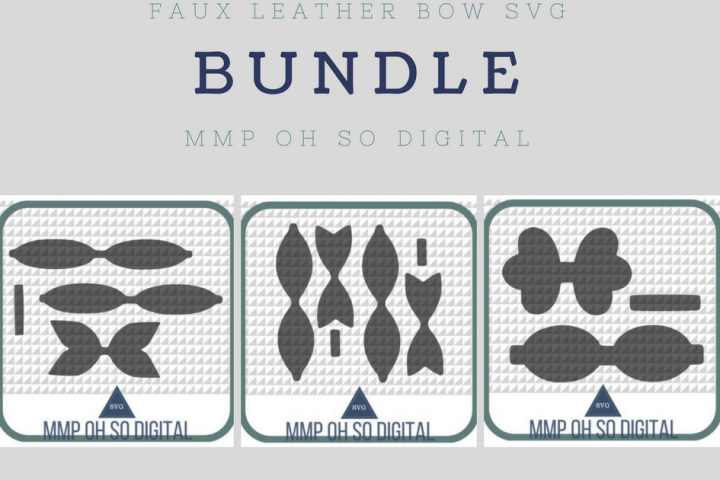 Faux Leather Bow SVG Bundle, Bow Template, Bow SVG, Template Bundle, SVG Bundle, Scalloped Bow svg, Baby Shower Gifts