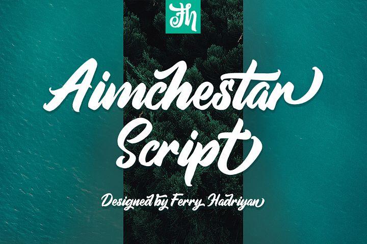 Aimchestar - Script Font