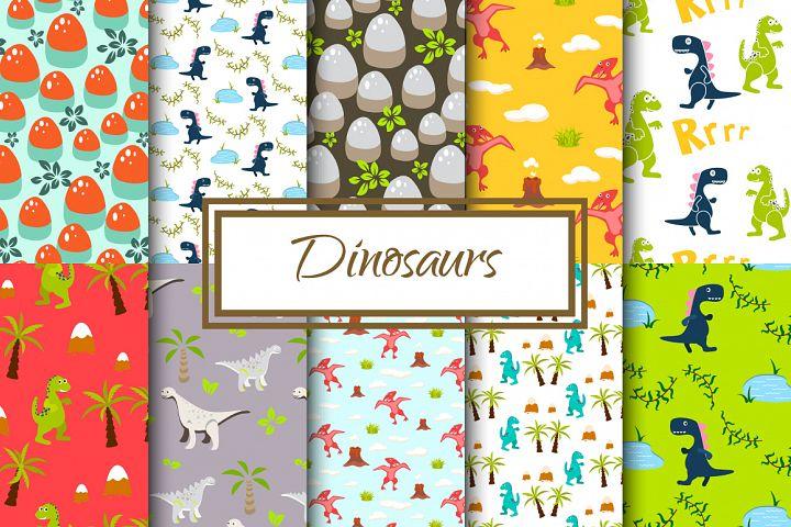 Dinosaur seamless paper set