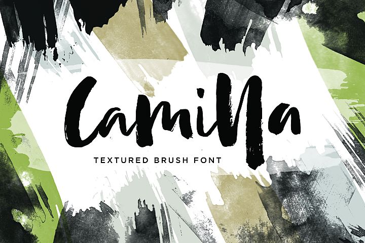 Camilla - Textured Brush Font